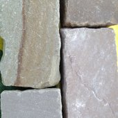 Premium Sandstone Setts Tumbled and Calibrated Buff/Brown